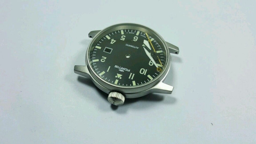 Image of FORTIS FLIEGER GENTS WATCH, COMPLETE CASE,NEW(BLACK DIAL)