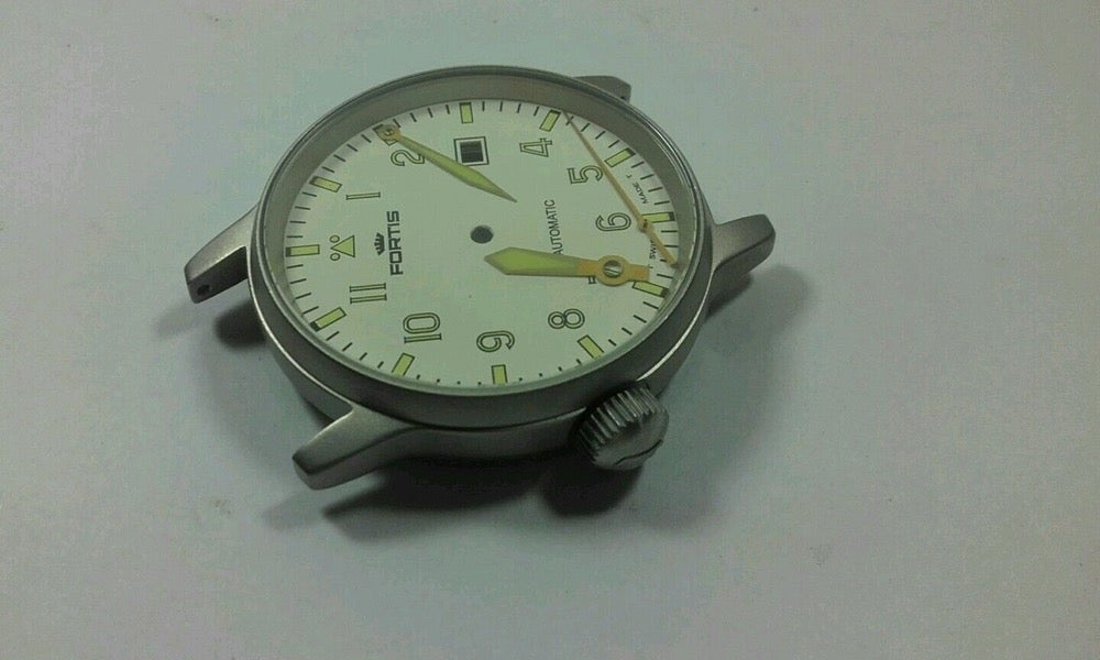 Image of FORTIS FLIEGER GENTS WATCH, COMPLETE CASE,NEW(WHITE DIAL) GREAT LOOKING