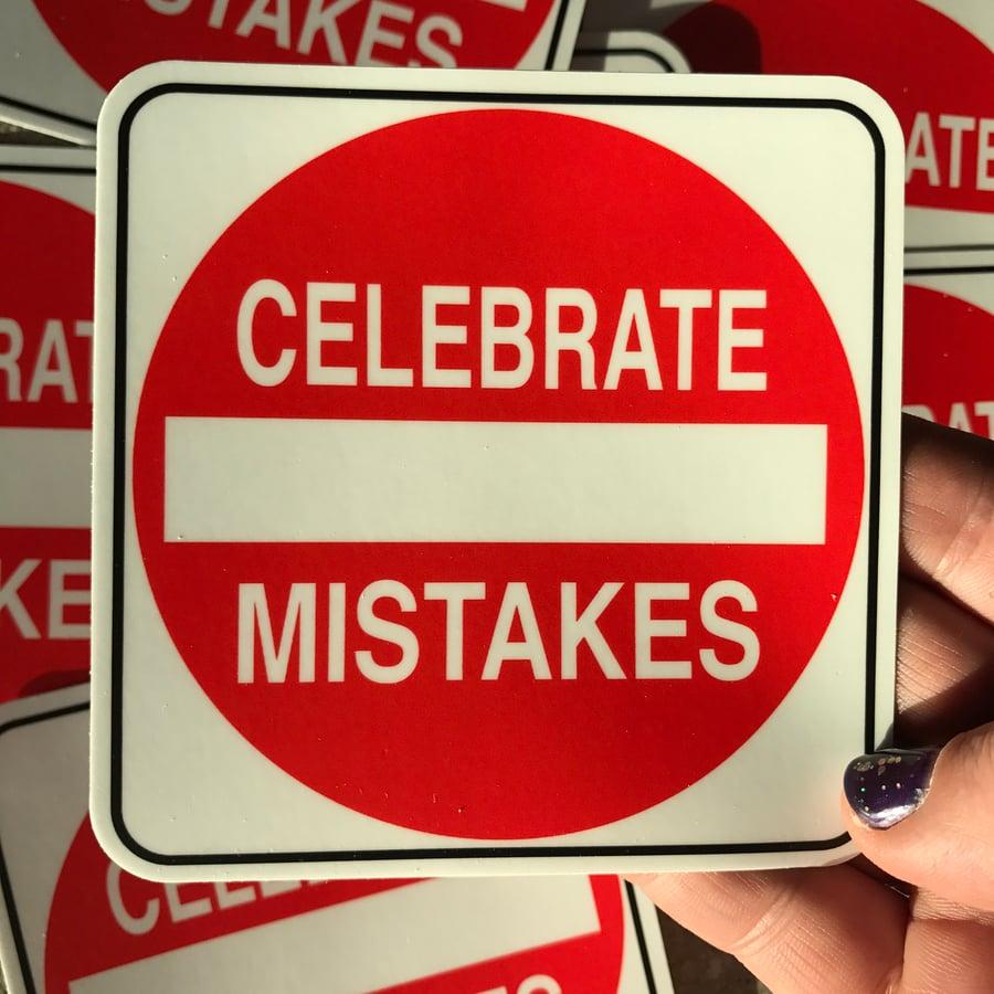 Image of Celebrate Mistakes Sticker