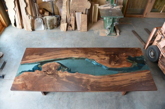 Image of claro walnut river® table
