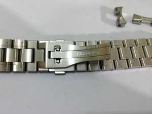 Image of TAG HEUER SPORTS STAINLESS STEEL GENTS REPLACEMENT WATCH STRAP,22MM,(TAG-19)