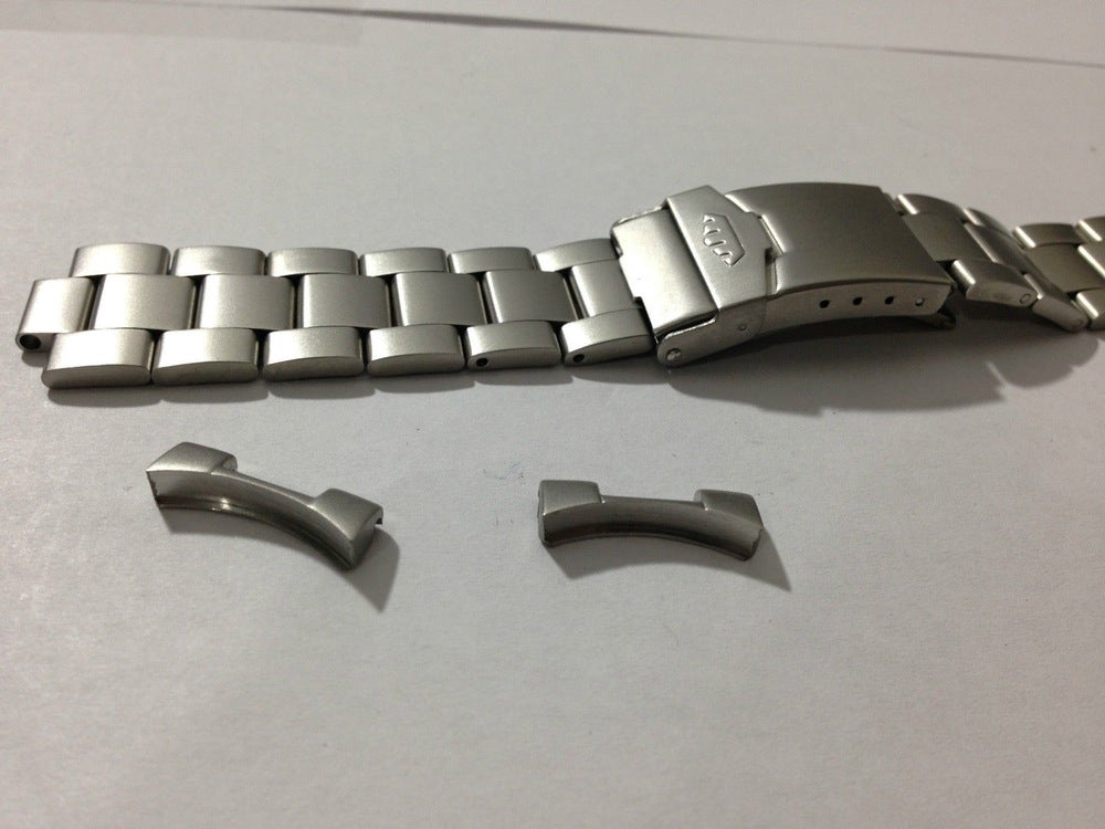 Image of NEW FORTIS 20MM STAINLESS STEEL GENTS WATCH STRAP,MATTE BRUSHED FINISH,FLIEGER