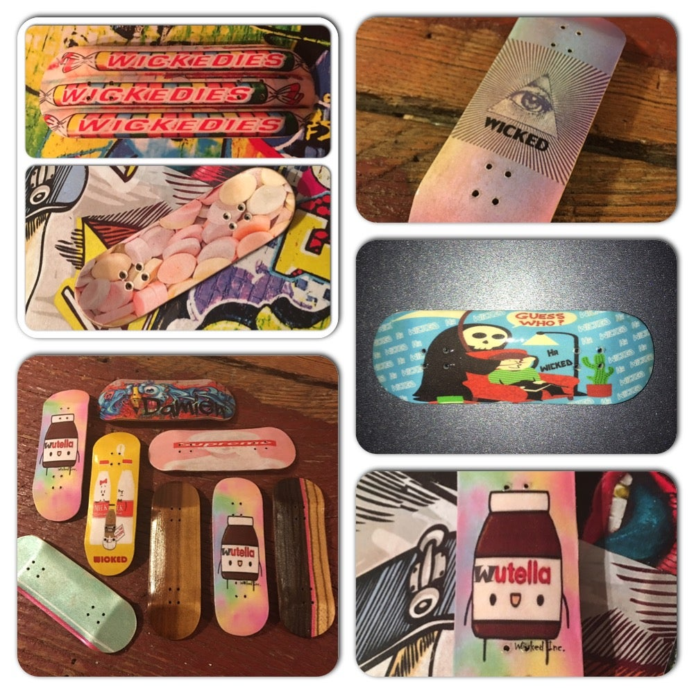 """Image of """"Wicked Sweet"""" Custom 29 - 36mm Deck Choose your graphic, natural wood, or split ply design & shape!"""