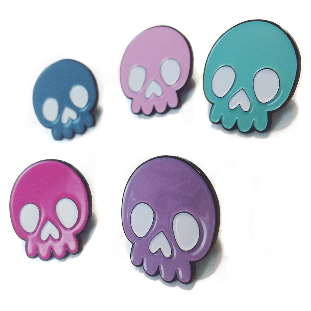 Image of SKULLY B. - MULTI-COLOR Enamel Pin