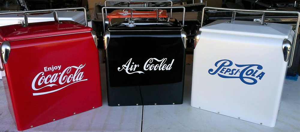 Image of VINTAGE RETRO STYLE COOLERS