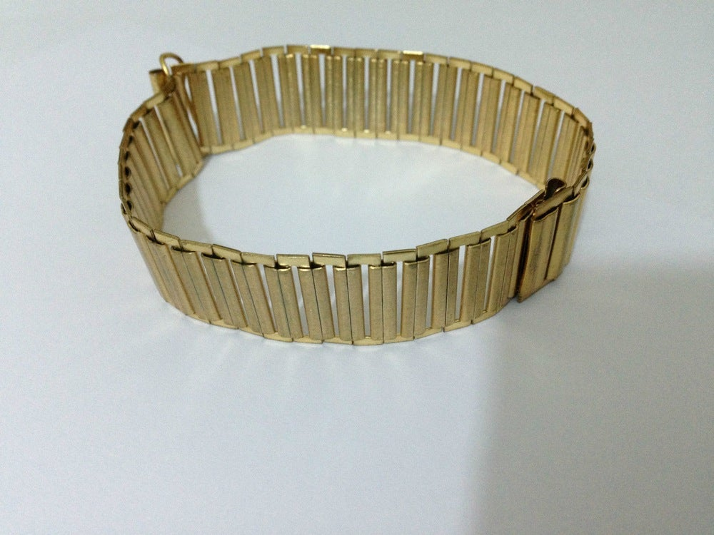 Image of RARE G/P BAMBOO MILITARY BONKLIP STYLE GENTS WATCH STRAP,18MM,( BM-01 )