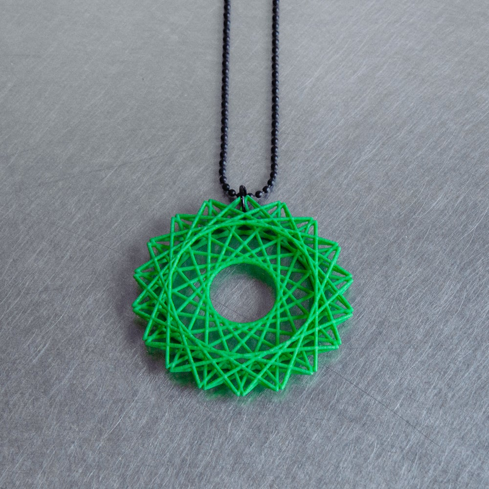 Image of 3D printed necklace STAR B