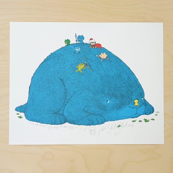 Image of BIG FRIEND · Kunstprint