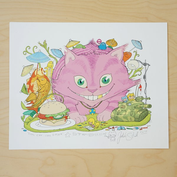 Image of COOL CAT COOL BURGER · Kunstprint