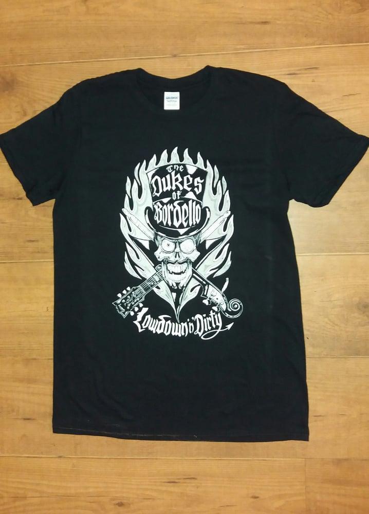 Image of Lowdown 'n' Dirty Duke Skull T Shirt