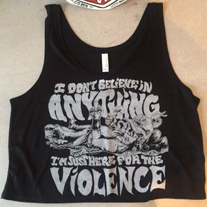 "Image of ""VIOLENCE"" ladies crop tops"