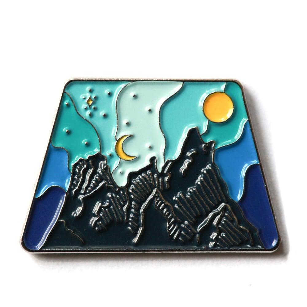 Image of Liberty Bell Mountain Enamel Pin