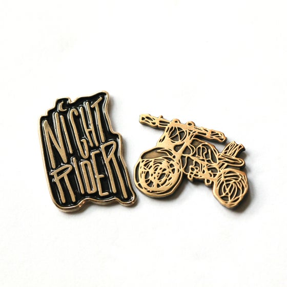 Image of Moto + Rider Enamel Pin Set