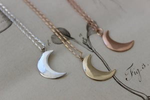 Image of crescent moon necklace (options available)
