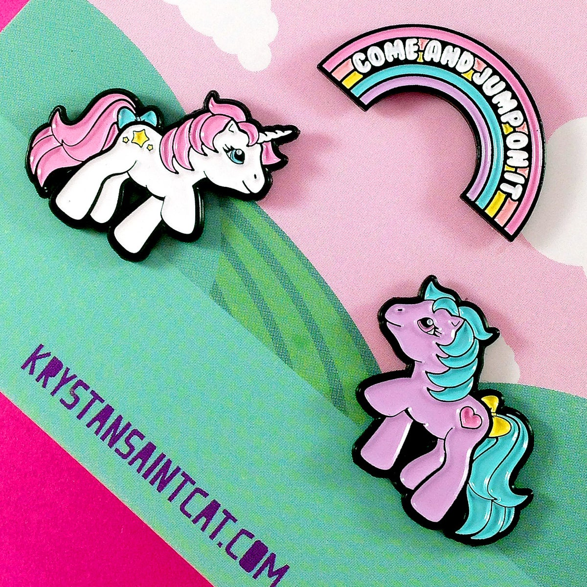 Image of My Pony Enamel Pin Set of 3