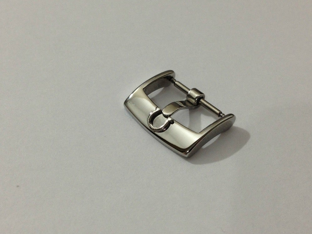Image of OMEGA 18MM/16MM STAINLESS STEEL BUCKLE,NEW HS MODEL.