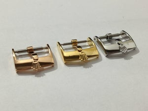 Image of ROLEX,BUCKLES FOR ROLEX.NEW,GENUINE,14MM,16MM,18MM.3 COLORS