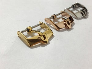 Image of OMEGA,GENUINE STRAP BUCKLES FOR OMEGA,SIZES 14MM,16MM,18MM.3 COLORS.