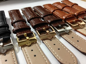Image of ROLEX,GENUINE CROC LEATHER STRAP FOR ROLEX,18MM,20MM.TAN BROWN.BLACK,BROWN.