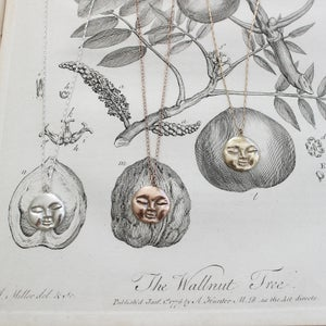 Image of full moon necklace (in silver or 9ct gold)