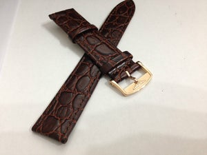 Image of LONGINES FLAT/THIN CROC GENTS LEATHER STRAPS,18MM-20MM,BROWN