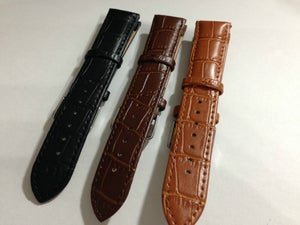 Image of BEAUTIFUL CROC LEATHER GENTS WATCH STRAPS,3 COLORS,TOP QUALITY.18MM,20MM