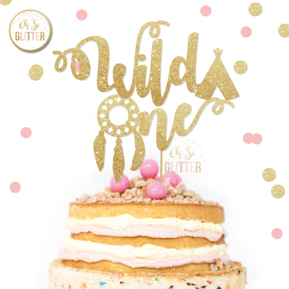 Image of Wild One cake topper