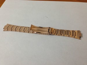 Image of NEW 19MM SEIKO ROSE GOLD PLATED GENTS WATCH STRAP,OUT CURVED LUG ENDS