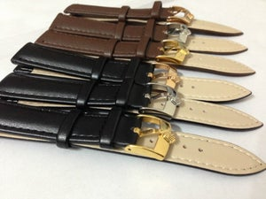 Image of ROLEX,GENUINE PLAIN LEATHER STRAP FOR ROLEX,18MM,20MM.BROWN.BLACK,