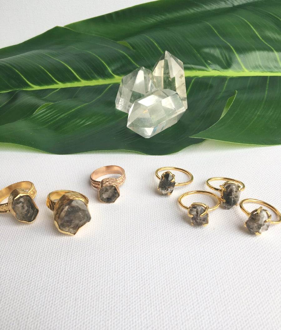 Image of HERKIMER DREAMS • Herkimer Diamond Rings