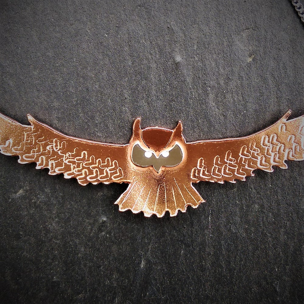 Image of Gliding Owl Necklace