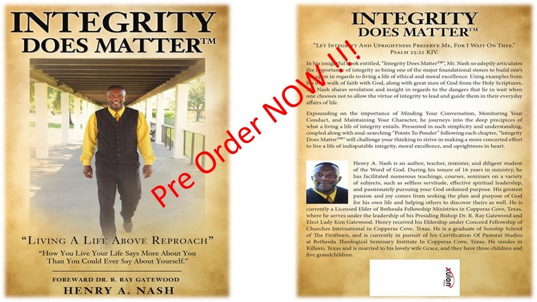 Image of Integrity Does Matter ™ THE BOOK