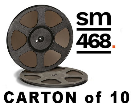 "Image of CARTON of SM468 1/4"" X2500' 10.5"" Trident Plastic Reel Hinged Box"