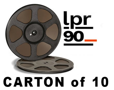 "Image of CARTON of LPR90 1/4"" X3600' 10.5"" Trident Plastic Reel Hinged Box"