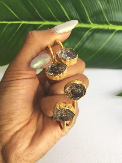 Image of Herkimer Bangles • Herkimer Diamond Bangle Bracelet