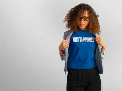 "Image of ""UNSTOPPABLE"" Do Christ Blue Tee"