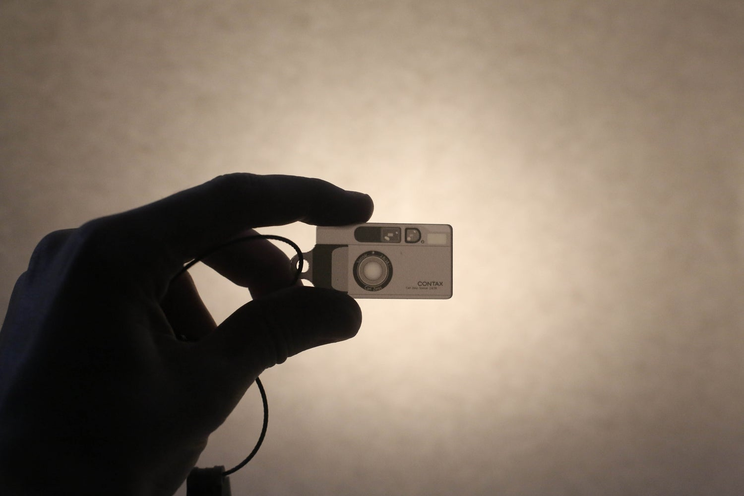 Image of Contax T2 Silver Negative Style Keyring