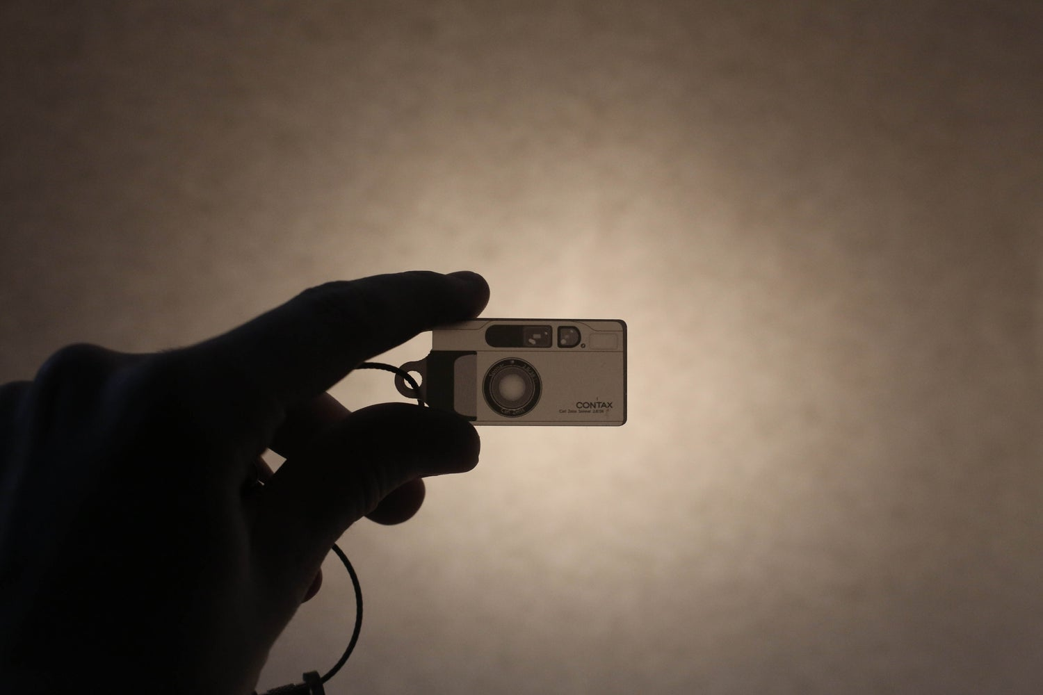 Image of Contax T2 Grey Negative Style Keyring