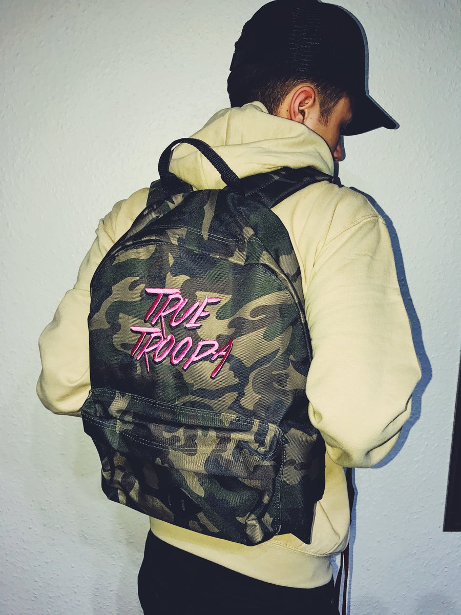 Image of 'True Troopa' Camo Backpack