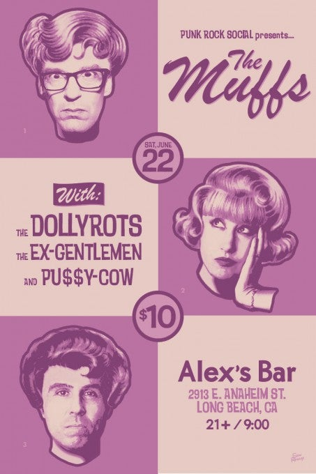 Image of The Muffs live at Alex's Bar 2013