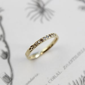 Image of 18ct gold champagne diamond set ring