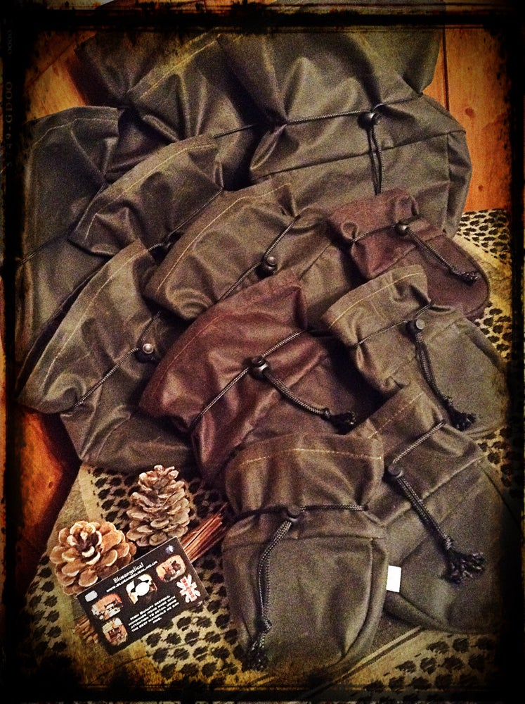 Image of Sami Style Oilskin & Canvas Pouches