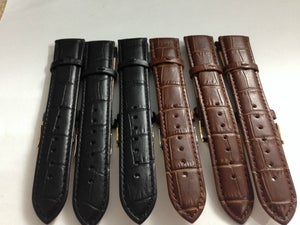 Image of GENUINE LEATHER ROLEX GENTS WATCH STRAPS,18MM,20MM,BLACK,BROWN,