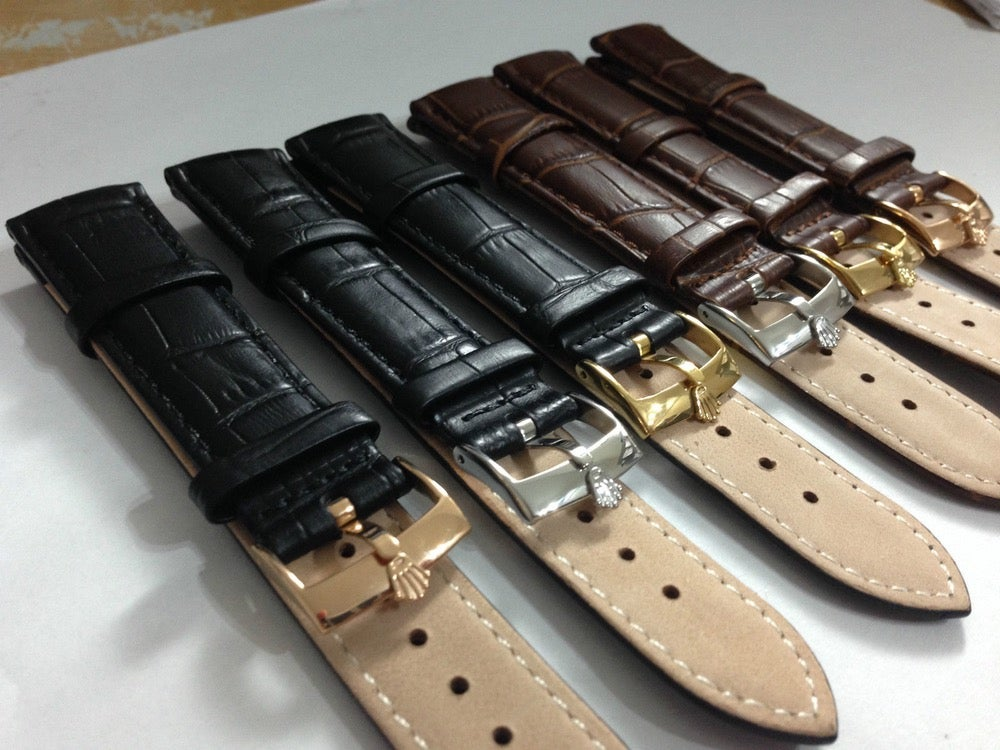 d54d0dfe8b1 Image of GENUINE LEATHER ROLEX GENTS WATCH STRAPS