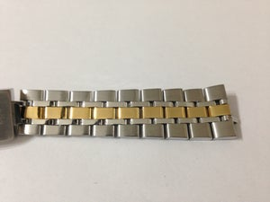 Image of TUDOR 2/TONE STAINLESS STEEL/GOLD GENTS WATCH STRAP.19MM(NS-19)