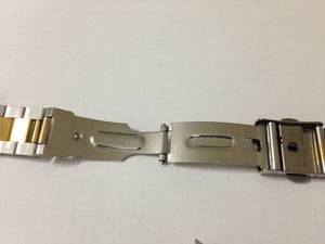 Image of BEAUTIFUL ENICAR 2/TONE STAINLESS STEEL/GOLD GENTS WATCH STRAP.18MM(NS-21)