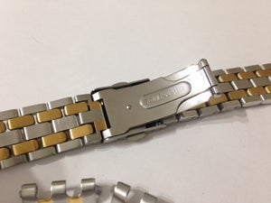 Image of BEAUTIFUL TITONI 2/TONE STAINLESS STEEL/GOLD GENTS WATCH STRAP.19MM(NS-25)