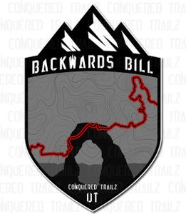 "Image of ""Backwards Bill"" Trail Badge"