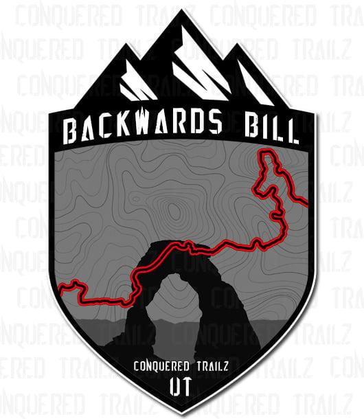 "Image of ""Backwards Bill"" Trail Badge"