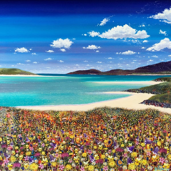 Image of Luskentyre wildflowers small giclée print